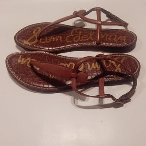 Sam Edelman Leather T Strap Sandals